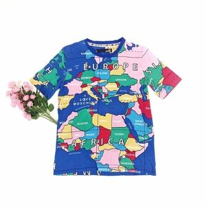 Moschino Colorful World Map Tee Shirt